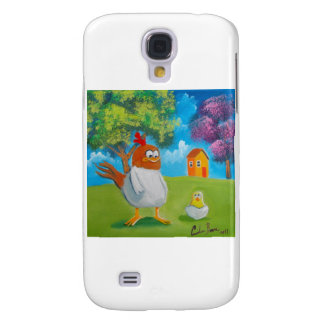 Chicken hen cute folk art illustration samsung s4 case