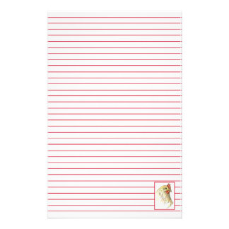 Chicken Hen Lined Stationery Red Letter Writing