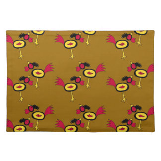 chicken hop cloth placemat