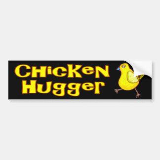 Chicken Hugger Car Bumper Sticker