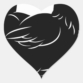 Chicken illustration sticker