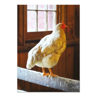 Chicken in Barn Card