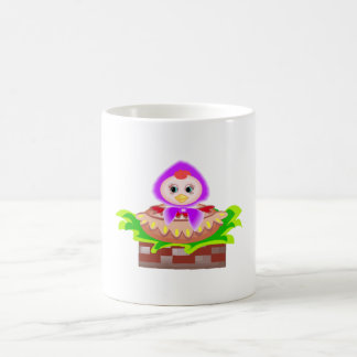 Chicken In Bonnet Coffee Mugs