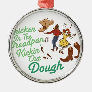 Chicken In Breadpan Metal Ornament