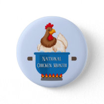 Chicken in Pot National Chicken Month Button