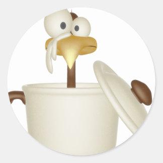 Chicken In Soup Classic Round Sticker