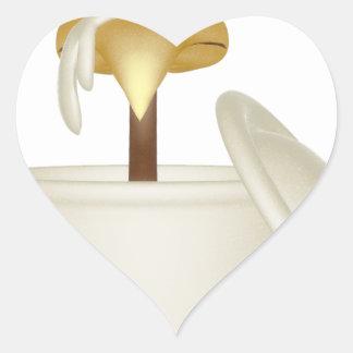 Chicken In Soup Heart Sticker