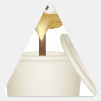 Chicken In Soup Triangle Sticker