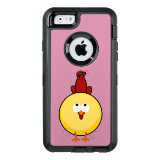 Chicken in spring - variable background OtterBox defender iPhone case