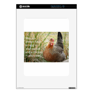 chicken in your heart iPad decal