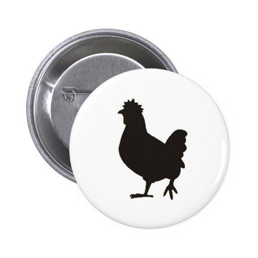 chicken is the new black 2 inch round button