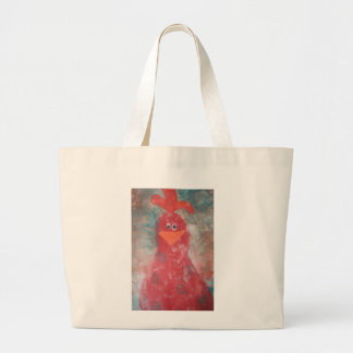 Chicken Journal Large Tote Bag