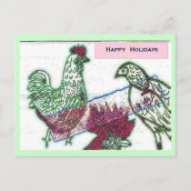 Chicken Joy Christmas Postcard - Customized
