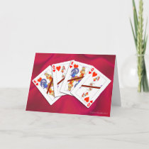 Chicken King and Queen of Hearts Playing Cards