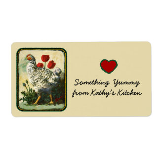 Chicken kitchen gift tag label