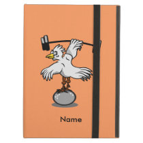 Chicken lifting weights cover for iPad air