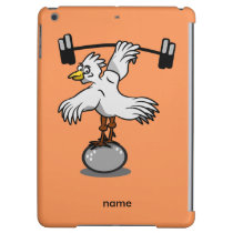 Chicken lifting weights iPad air case