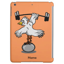 Chicken lifting weights iPad air cover