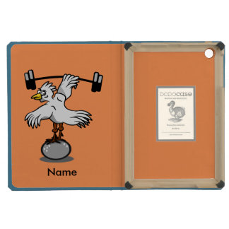 Chicken lifting weights iPad mini retina covers