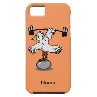 Chicken lifting weights iPhone SE/5/5s case