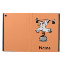 Chicken lifting weights powis iPad air 2 case