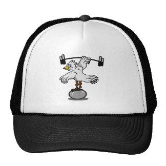 Chicken Lifting Weights Trucker Hat