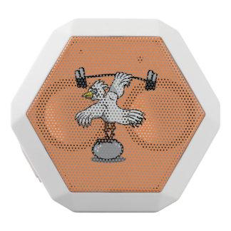Chicken lifting weights white bluetooth speaker