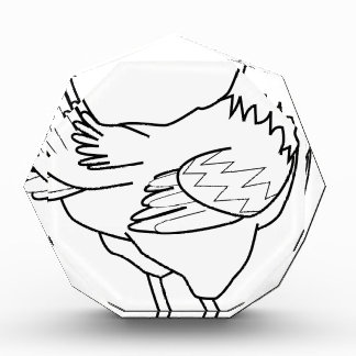 chicken line art acrylic award