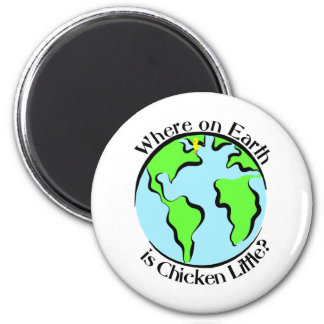 Chicken Little 2 Inch Round Magnet