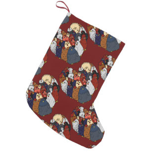 Chicken Love Small Christmas Stocking