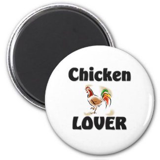 Chicken Lover 2 Inch Round Magnet