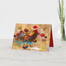 Chicken lovers Christmas Holiday Card