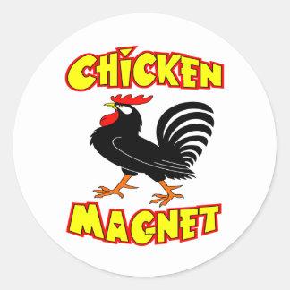 Chicken Magnet Rooster Classic Round Sticker