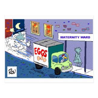Chicken Maternity Ward Funny Cartoon Gifts & Tees Postcard