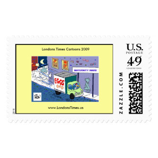 Chicken Maternity Ward Funny Cartoon Stamps