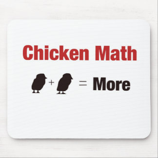 Chicken Math 1+1=More Mouse Pad