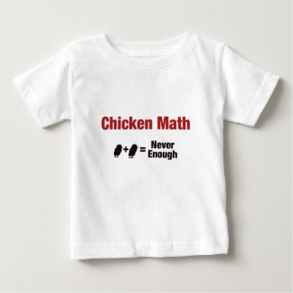 Chicken Math 1+1=Never Enough Baby T-Shirt