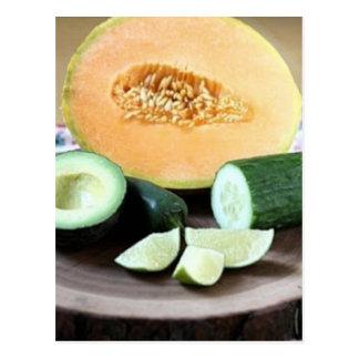 Chicken Melon Mousse Recipe Postcard