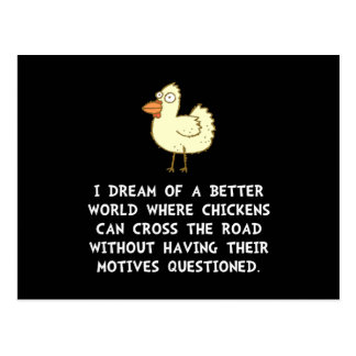 Chicken Motives Postcard