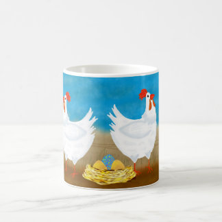 Chicken Mug With Chickens And Nest Of Eggs