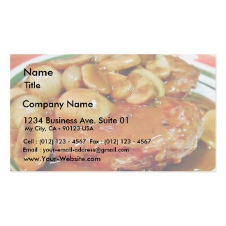 Chicken Mushrooms Sauces Business Card