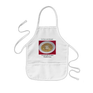 chicken noodle soup1, cow, Homemade Chicken Noo... Kids' Apron
