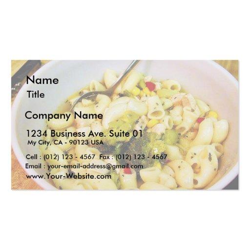 Chicken Noodles Soup Business Card