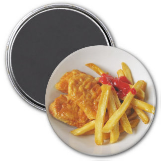 Chicken Nuggets and Fries Plates Magnet