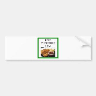chicken nuggets bumper sticker