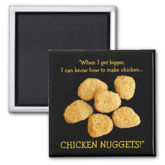 """Chicken Nuggets"" 2 Inch Square Magnet"