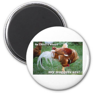 Chicken Nuggets - Rooster 2 Inch Round Magnet