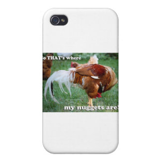 Chicken Nuggets - Rooster iPhone 4/4S Case