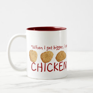 """Chicken Nuggets"" Two-Tone Coffee Mug"