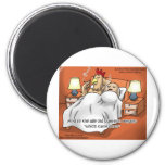 Chicken Or Egg Came 1st? Funny Gifts & Tees 2 Inch Round Magnet